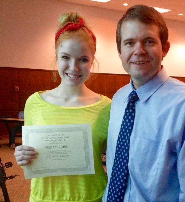 2014 TAMS AA scholarship winner - Emma Holmes