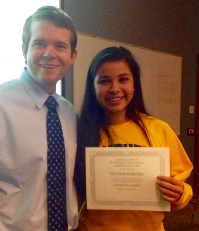 TAMS AA scholarship winner - 2014-15 - Victoria Barrera 2